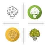 Money tree icon Stock Images