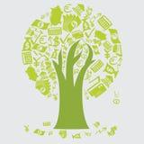 Money Tree Icons Royalty Free Stock Photography