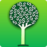 Money tree illustration Stock Photography
