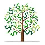 Money tree isolated stock illustration