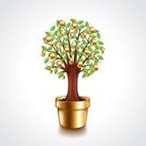 Money tree in a pot vector illustration Stock Image