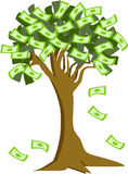 Money_tree_rich. Money Tree Is shedding cash leaves Royalty Free Stock Images