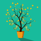 Money tree of successful business Royalty Free Stock Photo