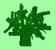 Money Tree of US Dollar banknotes Royalty Free Stock Image