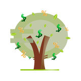 Money tree. On a white background Stock Photography