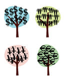 Money trees Royalty Free Stock Image
