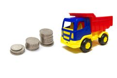 Money for truck Royalty Free Stock Image