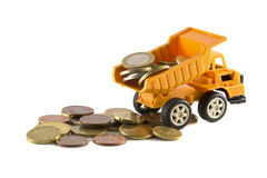 Money from the truck Royalty Free Stock Image