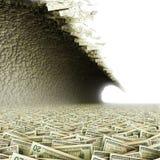 Money tsunami Stock Image