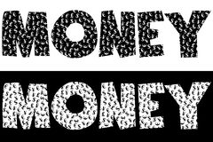Money typography made of currency symbols Royalty Free Stock Photos