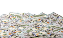Money U.S. 100 dollar bill. As background royalty free stock images