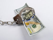 Money Under Arrest. Stock Images
