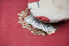 Money under a pillow Royalty Free Stock Photos