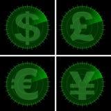 Money under radar Royalty Free Stock Image