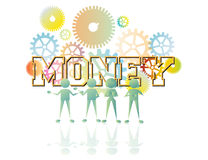 Money. Under team management making money is easy Stock Photography
