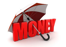 Money under Umbrella (clipping path included) Royalty Free Stock Photo