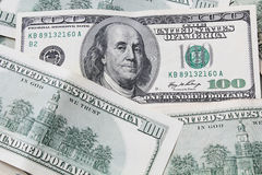 Money - US Currency hundred dollar bills Stock Image