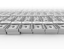 Money us dollars background. Money us dollars on white background Stock Photography