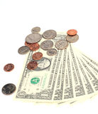 Money - US Dollars and Coins stock images