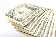 Money - US One Dollar Bills Royalty Free Stock Photography