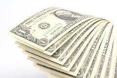 Money - US One Dollar Bills Royalty Free Stock Photography