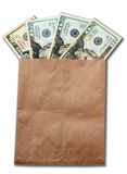 Money of USA in paper envelop Royalty Free Stock Images