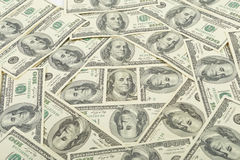 Money usa. Seamless pattern of banknotes, paper money usa Royalty Free Stock Photo