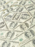 Money usa. Seamless pattern of banknotes, paper money usa Royalty Free Stock Photography