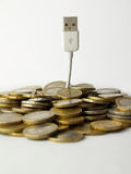 Money and usb tree Stock Photos