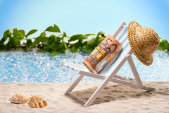 Money on vacation Royalty Free Stock Photo