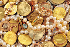 Money and valuable. A lot of money and valuable Royalty Free Stock Image