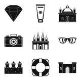 Money value icons set, simple style. Money value icons set. Simple set of 9 money value vector icons for web isolated on white background Stock Photos