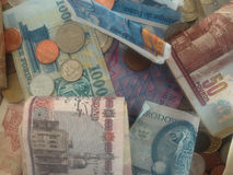 Money from various countries. A bunch of money - currencies from several countries Royalty Free Stock Images