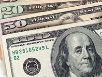 Money - Various US Currency Stock Photography