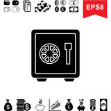 Money Vault Icon. Collection of Financial Pictograms with Safe Stock Image