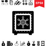 Money Vault Icon. Collection of Financial Pictograms with Safe Royalty Free Stock Image