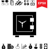Money Vault Icon. Collection of Financial Pictograms with Safe Royalty Free Stock Images