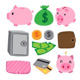Money vector collection design royalty free illustration