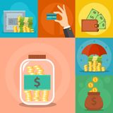 Money vector commercial group payment investment bag graphic finance safepay earning cash wallet. Royalty Free Stock Image