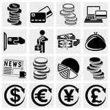 Money vector icons set. Stock Photography