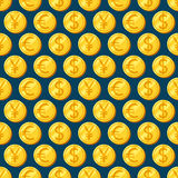 Money. Vector seamless patterns. Decorative background for cards, illustration, poster, advertisement and web design Royalty Free Stock Image