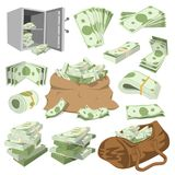Money vector stack of dollar or currency cash monetary in bank moneysaving and financial business and finance banking Royalty Free Stock Photography
