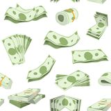 Money vector stack of dollar or currency cash monetary in bank moneysaving and financial business and finance banking. Illustration seamless pattern background Stock Photo