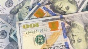 Money video footage, rotating money video background 4k stock video