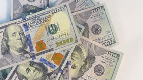 Money video footage, rotating money video background 4k stock footage