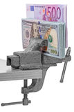 Money in Vise Royalty Free Stock Photo