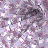 Money vortex of 500 euro notes Royalty Free Stock Image
