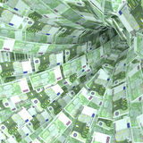 Money vortex of 100 euro notes Stock Images