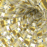 Money vortex of 200 euro notes Royalty Free Stock Photos