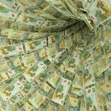 Money vortex of 20 new zealand dollar bills. Money vortex of twenty new zealand dollar bills royalty free illustration
